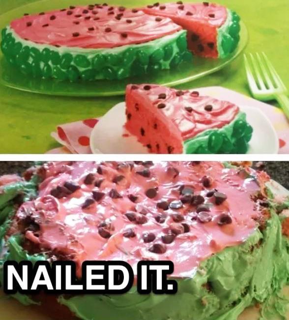 Торт и его неудачное исполнение