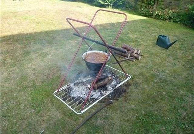 еда на огне
