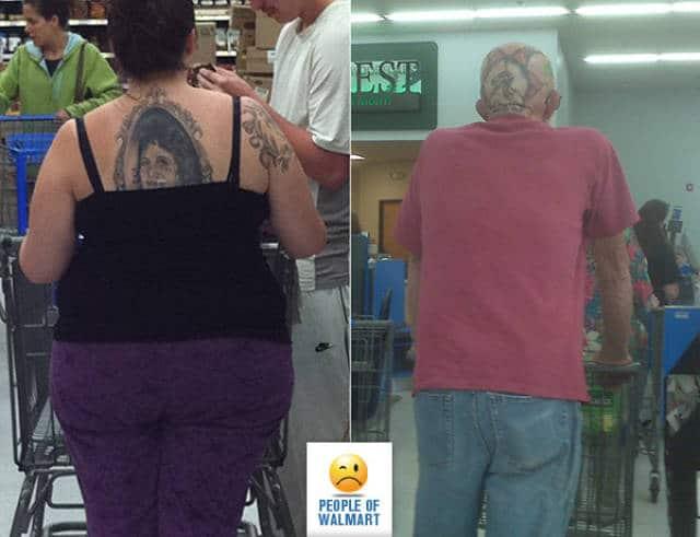 женщина и мужчина с татуировкой
