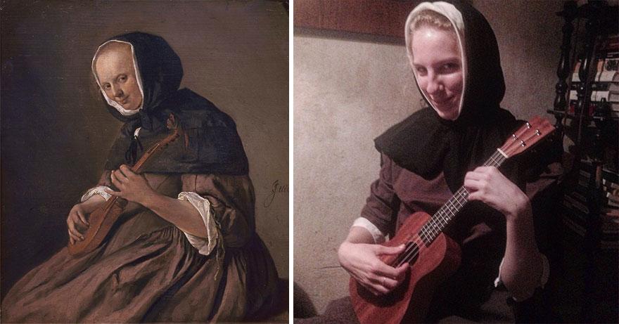 дама с мандолиной ян стен