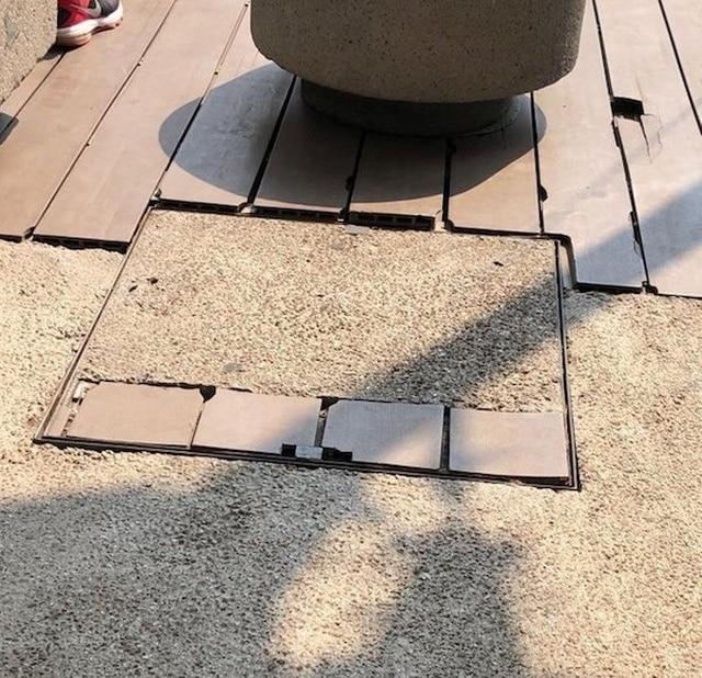 плитка на земле