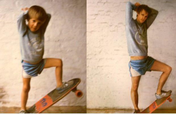 мальчик и парень на скейте