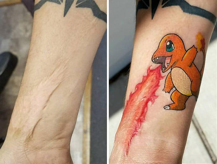 татуировка в виде дракона