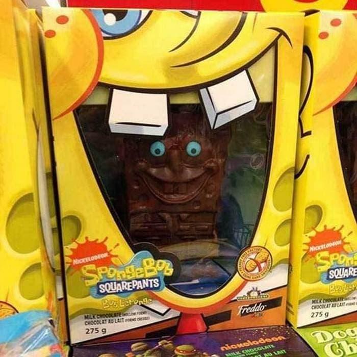 игрушка спанч боб в коробке