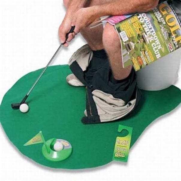 коврик для гольфа в туалете