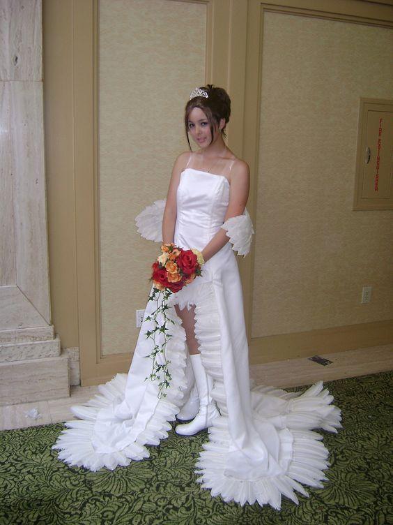 девушка в подвенечном платье
