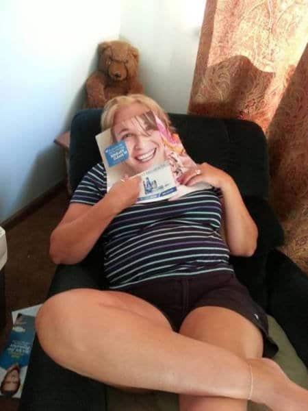 женщина и журнал