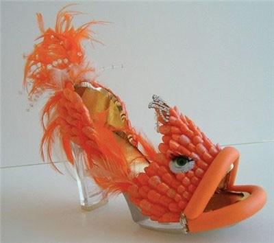 туфли в виде золотой рыбки