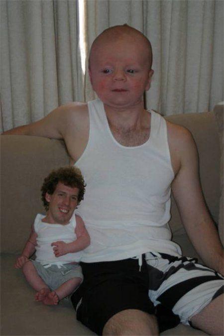 мама и ребенок поменялись головами