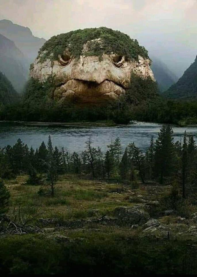 гора в форме головы черепахи