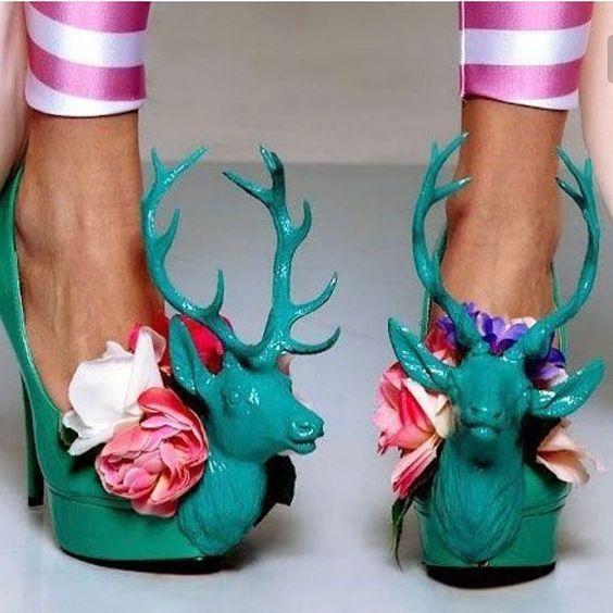 туфли с оленями