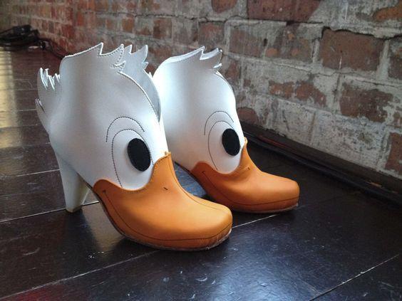 ботинки в виде головы утки