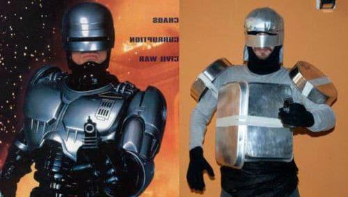 мужчина и робокоп