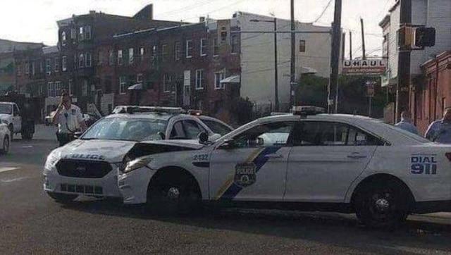 авария полицейских машин