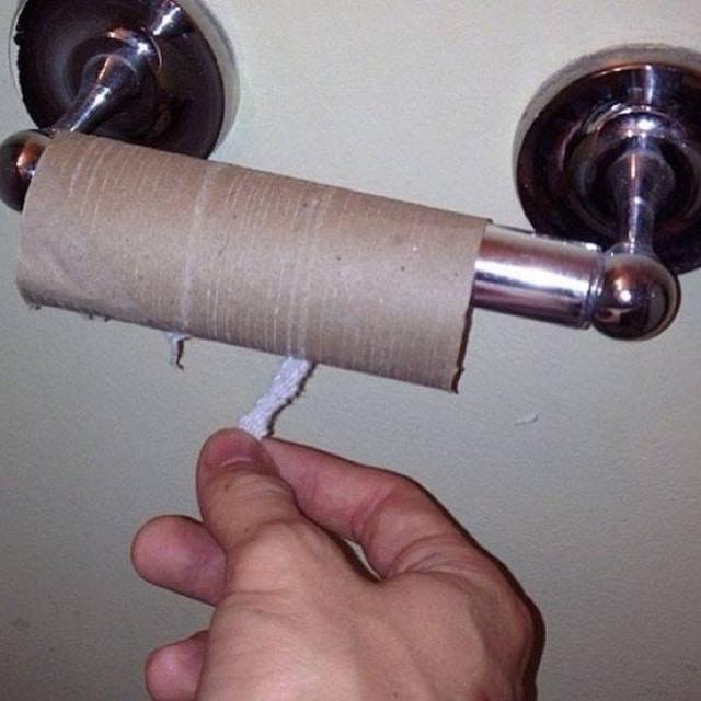 туалетная бумага закончилась