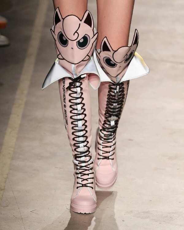 розовые сапоги на шнуровке