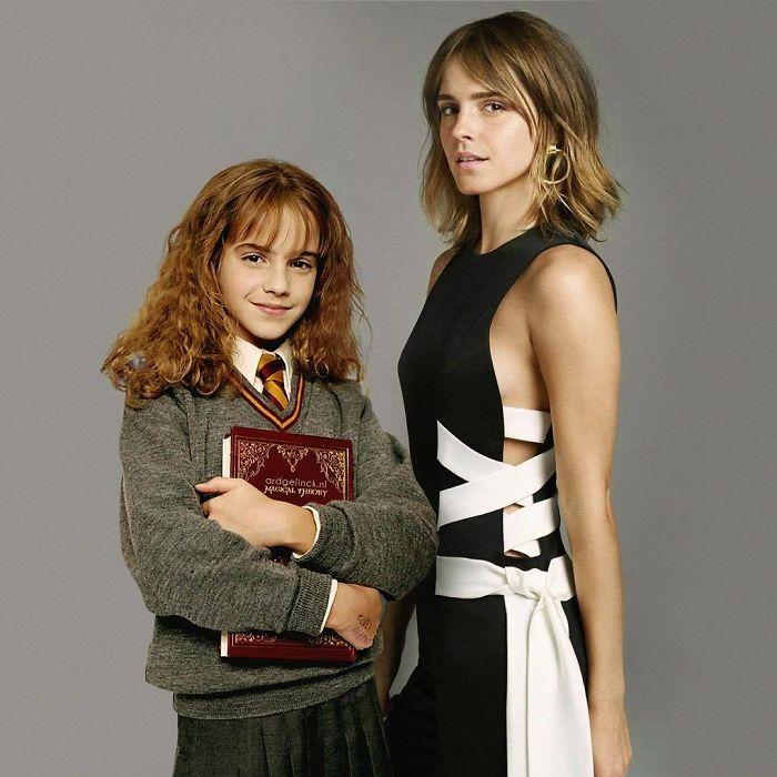 эмма уотсон в детстве и сейчас
