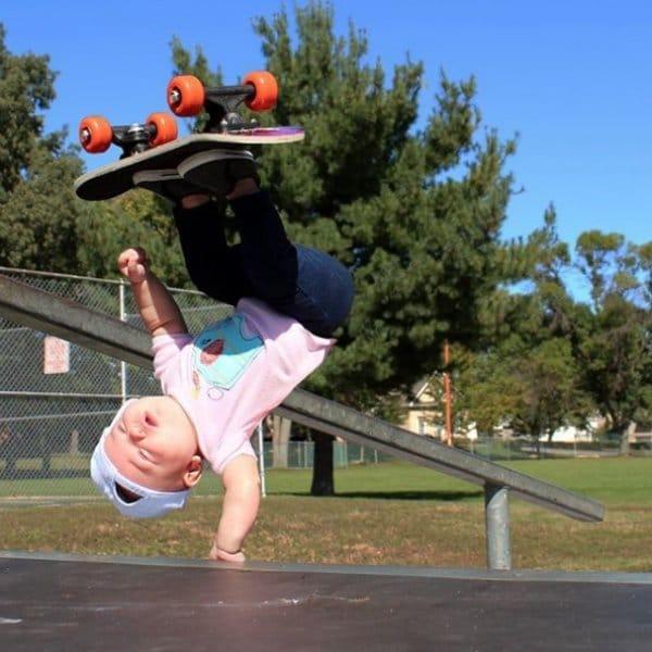 девочка на скейтборде рис 2
