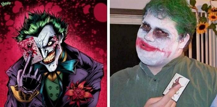 мужчина в образе Джокера