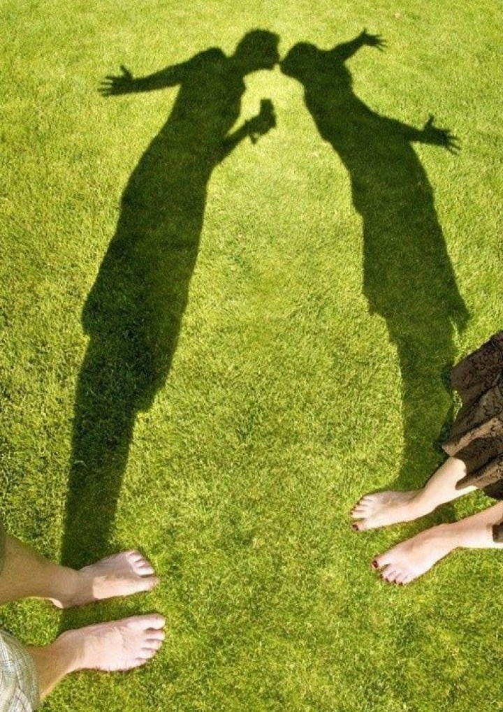 тени на траве