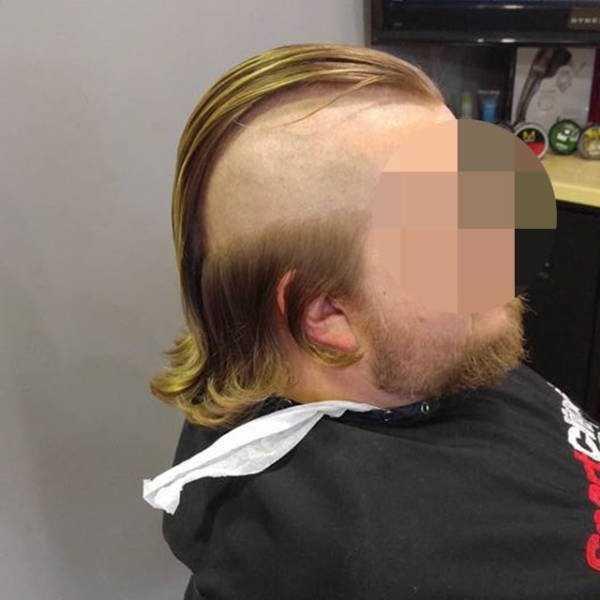 мужчина с выстриженными висками