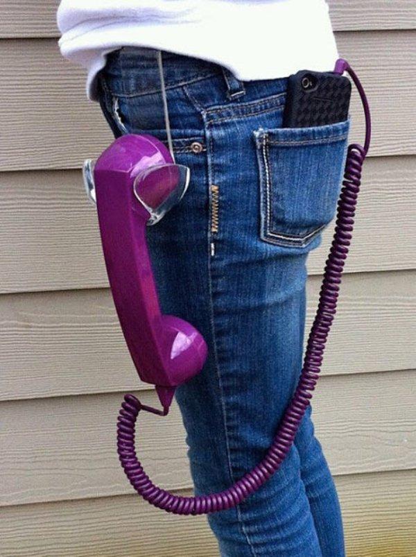 мобильный телефон с трубкой от городского