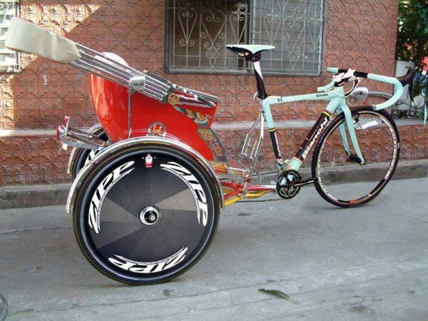 велосипед с коляской сзади