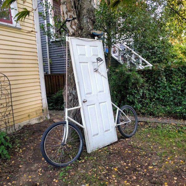 велосипед с дверью