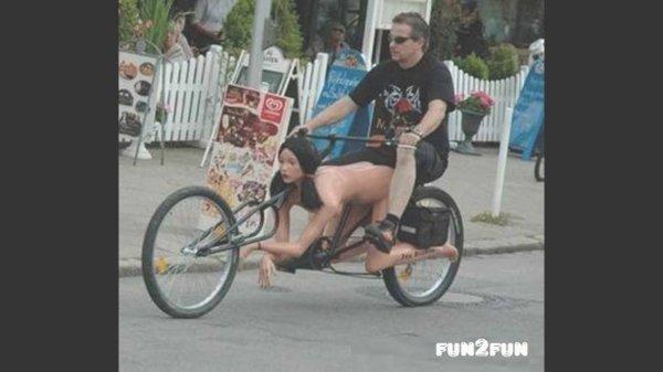 велосипед с фигурой женщины