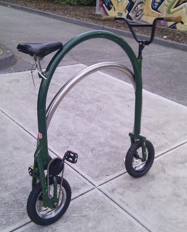 велосипед с круглой рамой
