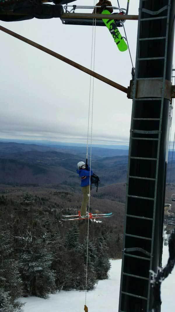 лыжник висит в воздухе