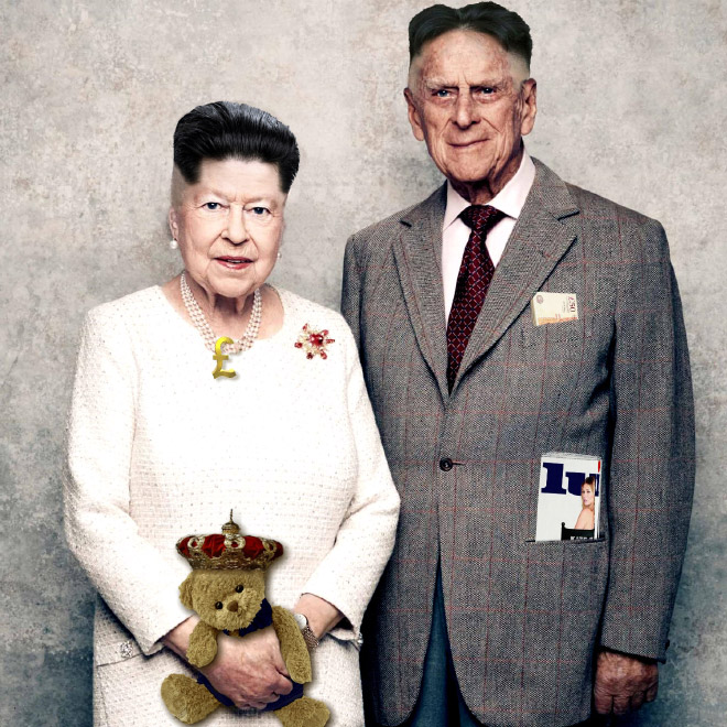 елизавета II с мужем