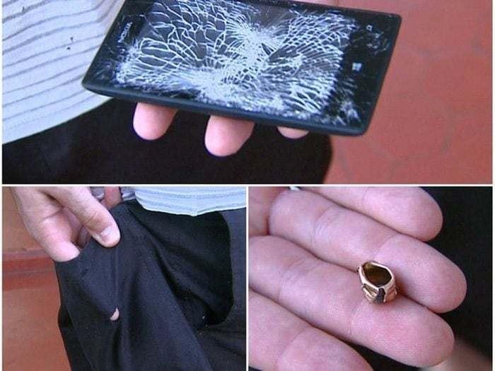 разбитый телефон и пуля