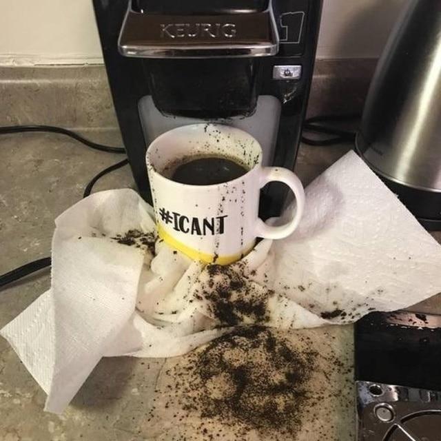 сломанная кофемашина