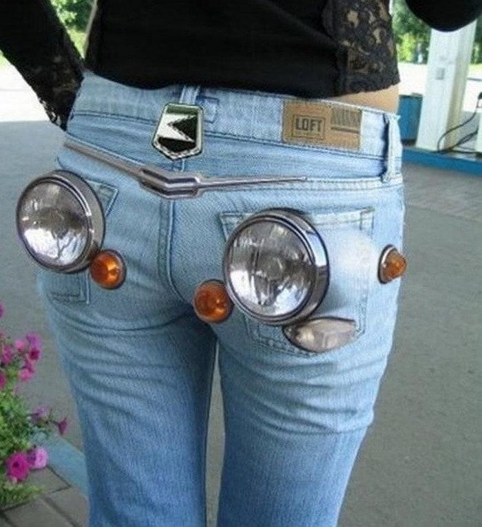 необычные женские джинсы