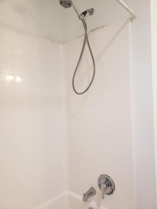высокий душ