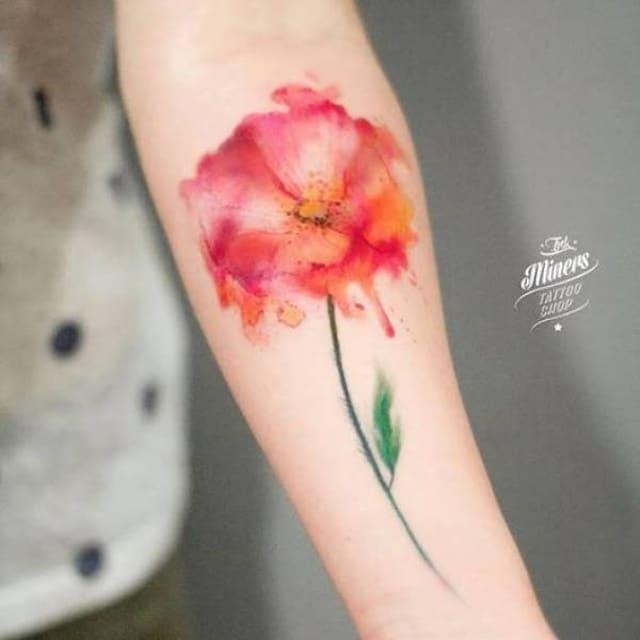 тату в виде цветка