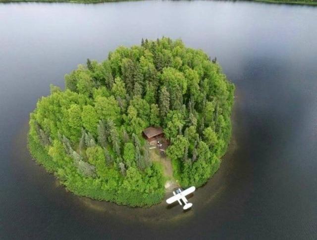 остров в виде сердца