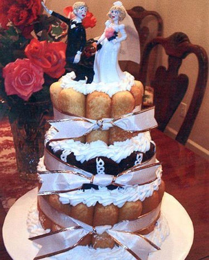неудачный свадебный торт