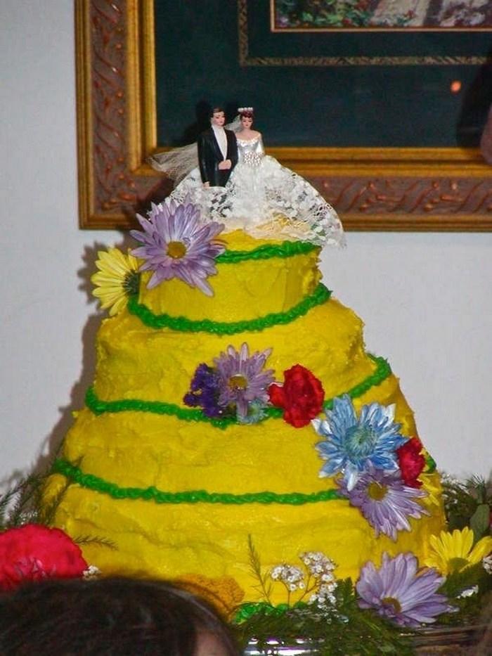 неудачный торт на свадьбу
