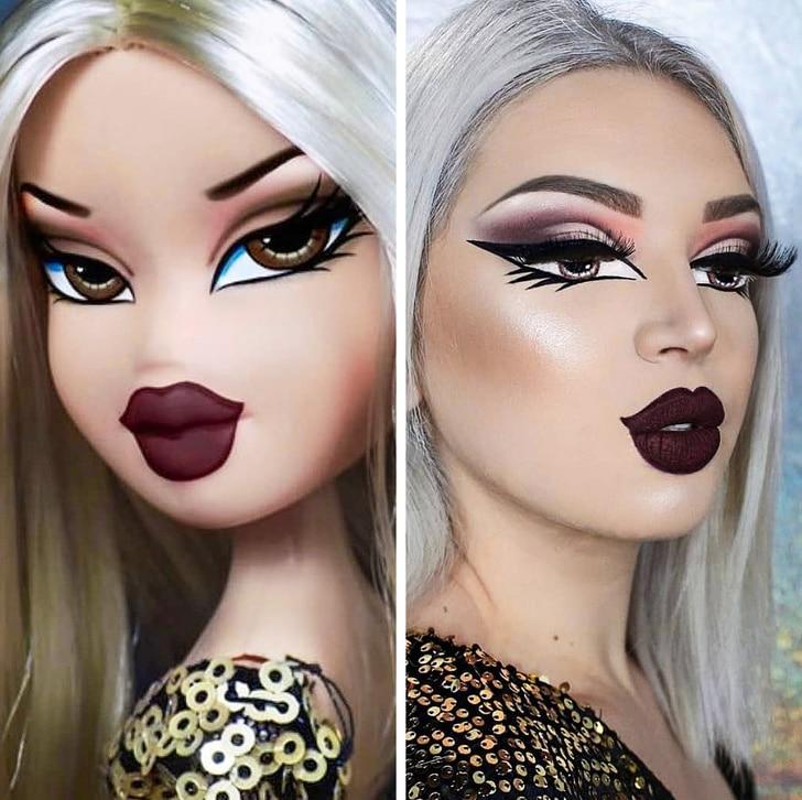 девушка и кукла bratz