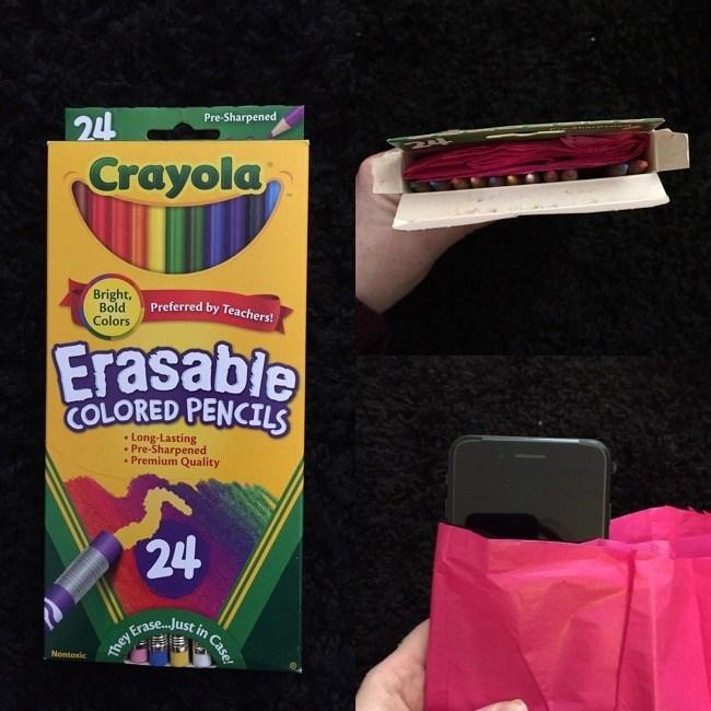 упаковка карандашей с телефоном