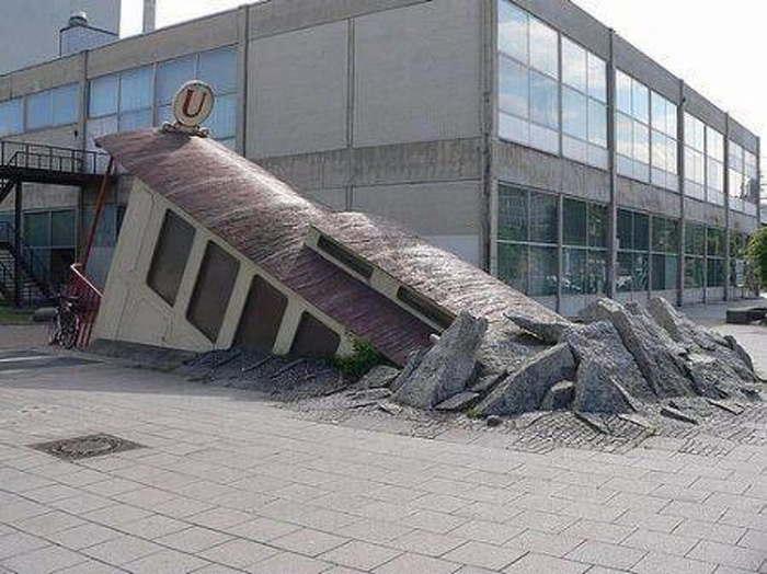 выход из метро во франкфурте