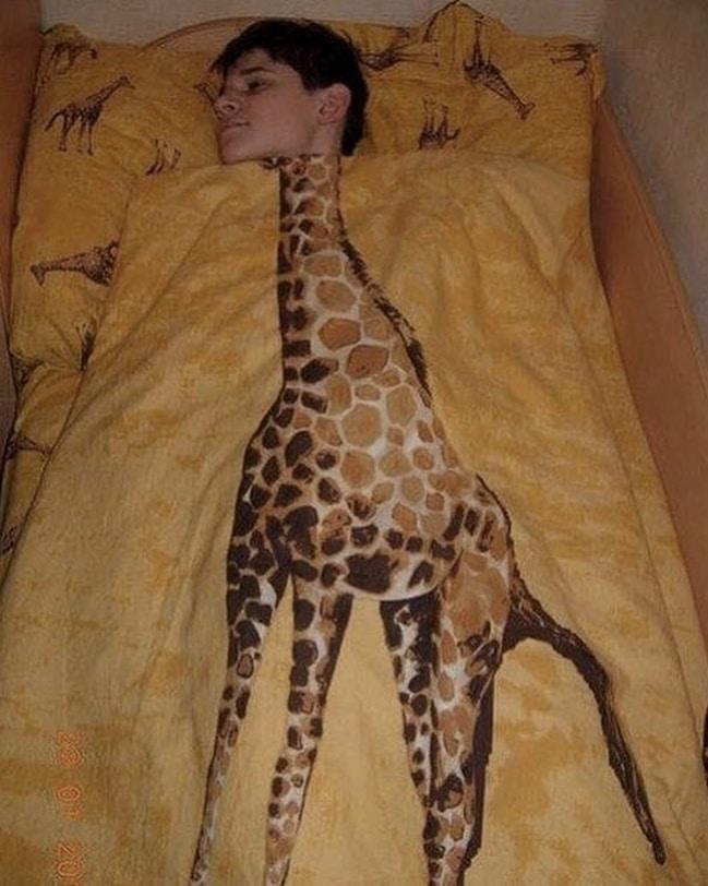 одеяло с жирафом