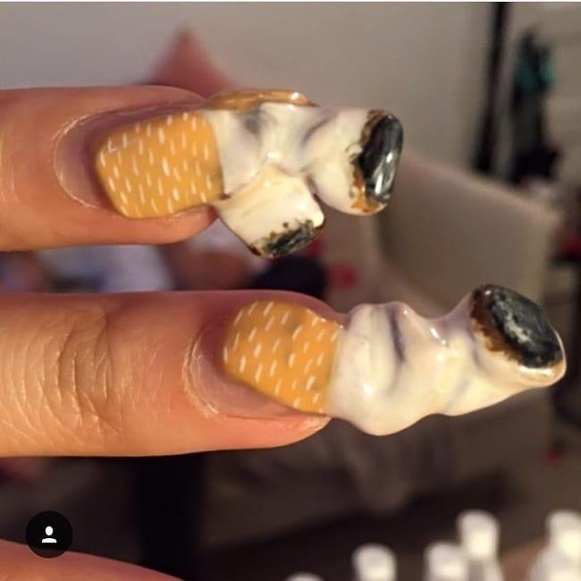 странный дизайн ногтей