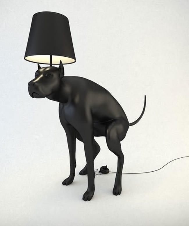 лампа в виде собаки