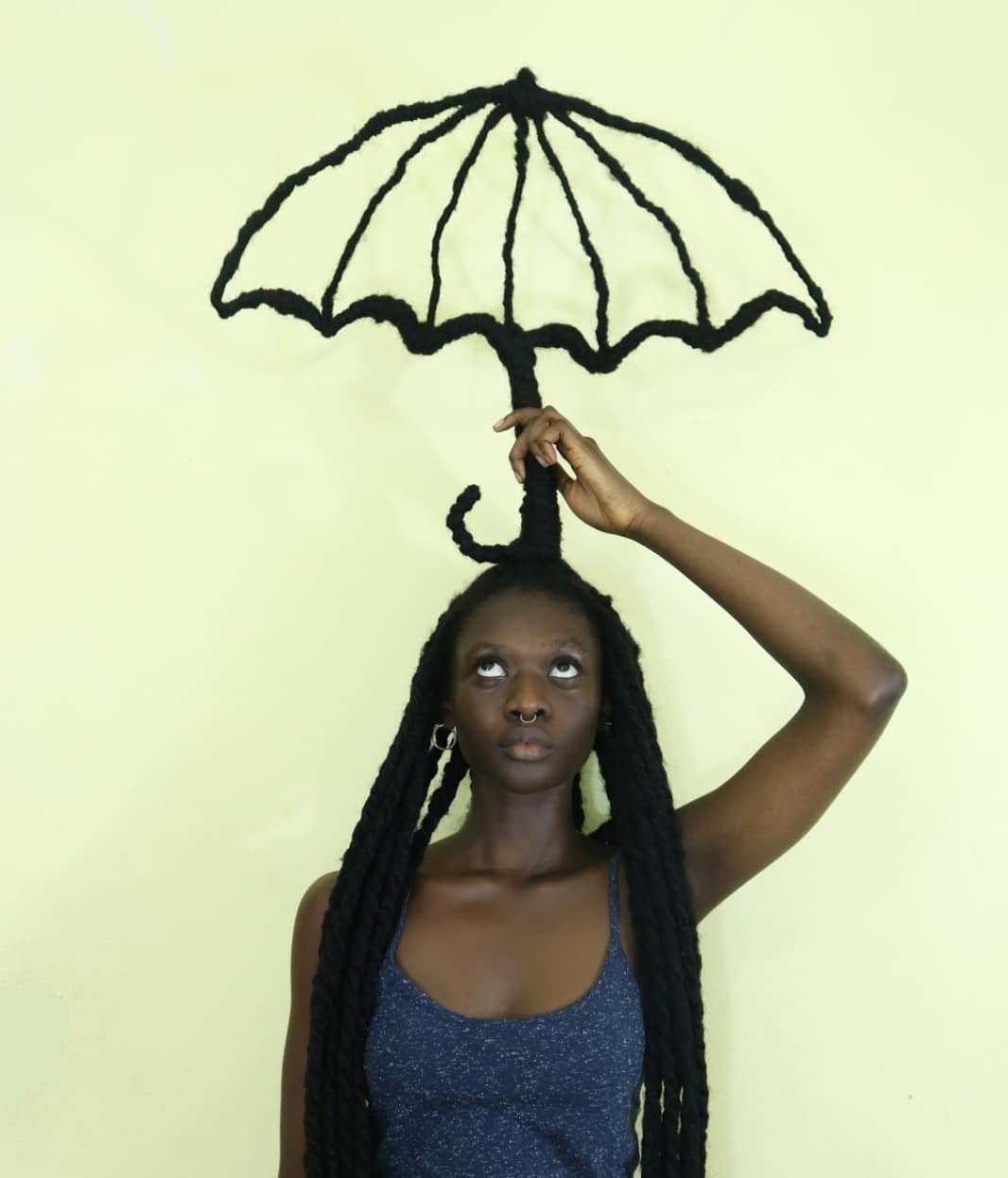 зонт из волос