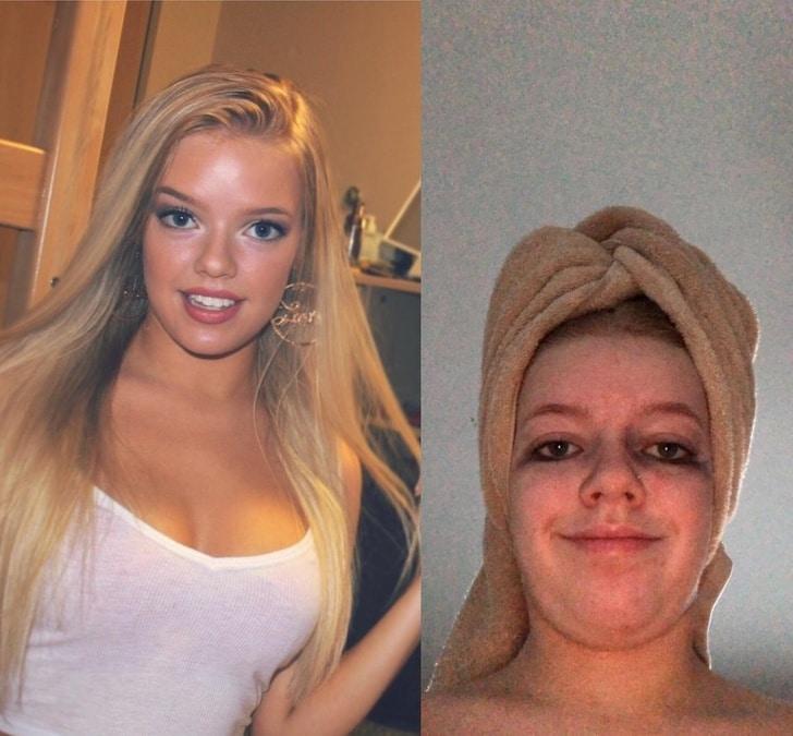 макияж потек