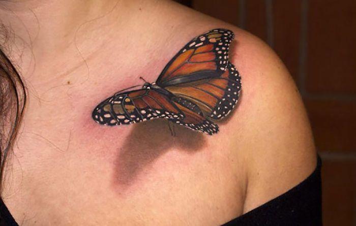 тату в виде бабочки