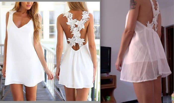неудачное платье